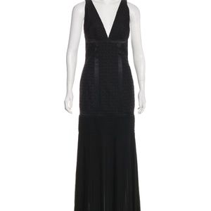 Roberto Cavalli Black Chiffon  Evening Gown